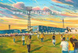 original painting plainmoor going to the match